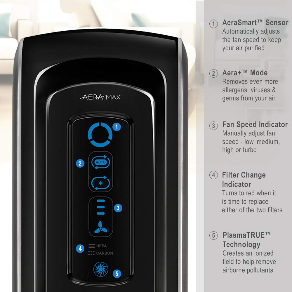 Amazon.com: Fellowes 9286001 AeraMax 90 Allergy Air Purifier with True HEPA  filter and Odor Reduction: Home & Kitchen