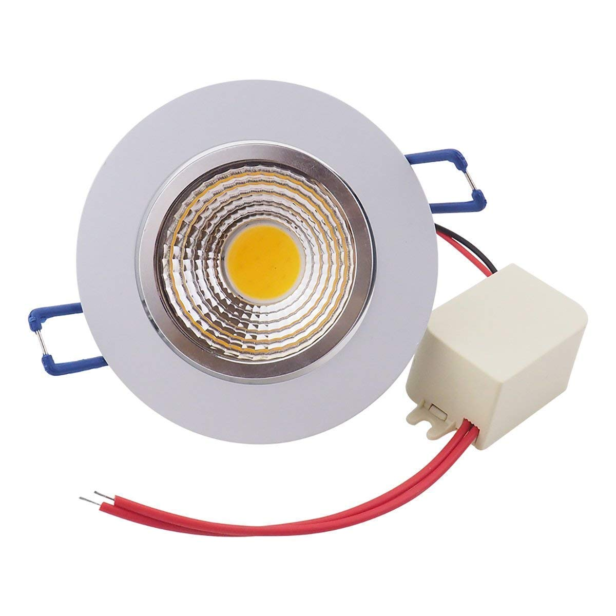POCKETMAN 10 Pack 7W 700LM LED COB Recessed Ceiling Downlights,3000K Warm White Ceiling Lights Spotlights,Angle Adjustable