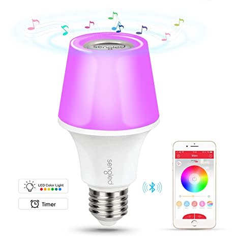 sengled solo color Plus, altavoz Bluetooth, que cambian bombilla LED regulable, E27, aplicación de teledirigido de ...