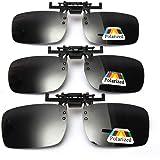 Ansteckbare Sonnenbrille mit polarisierten Linsen von Cosprof, aufklappbare Clip auf Sonnenbrille, blendfreie Brille zum Fahren, Angeln, Freiluftaktivitäten, für Damen und Herren