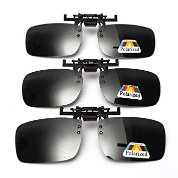 f2eaa629f2 Image Unavailable. Image not available for. Color  Cosprof Polarized Lenses  Flip-Up Clip On Sunglasses UV400 - Driving Fishing ...