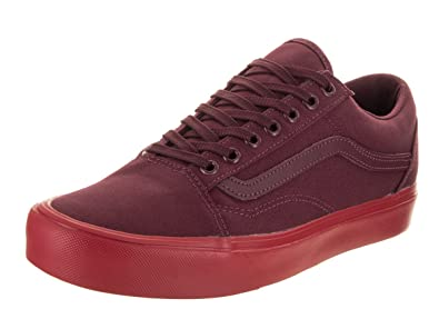cc33650986e7 Vans Unisex Old Skool Lite (Pop Sole) Red Canvas Skate Shoes 11