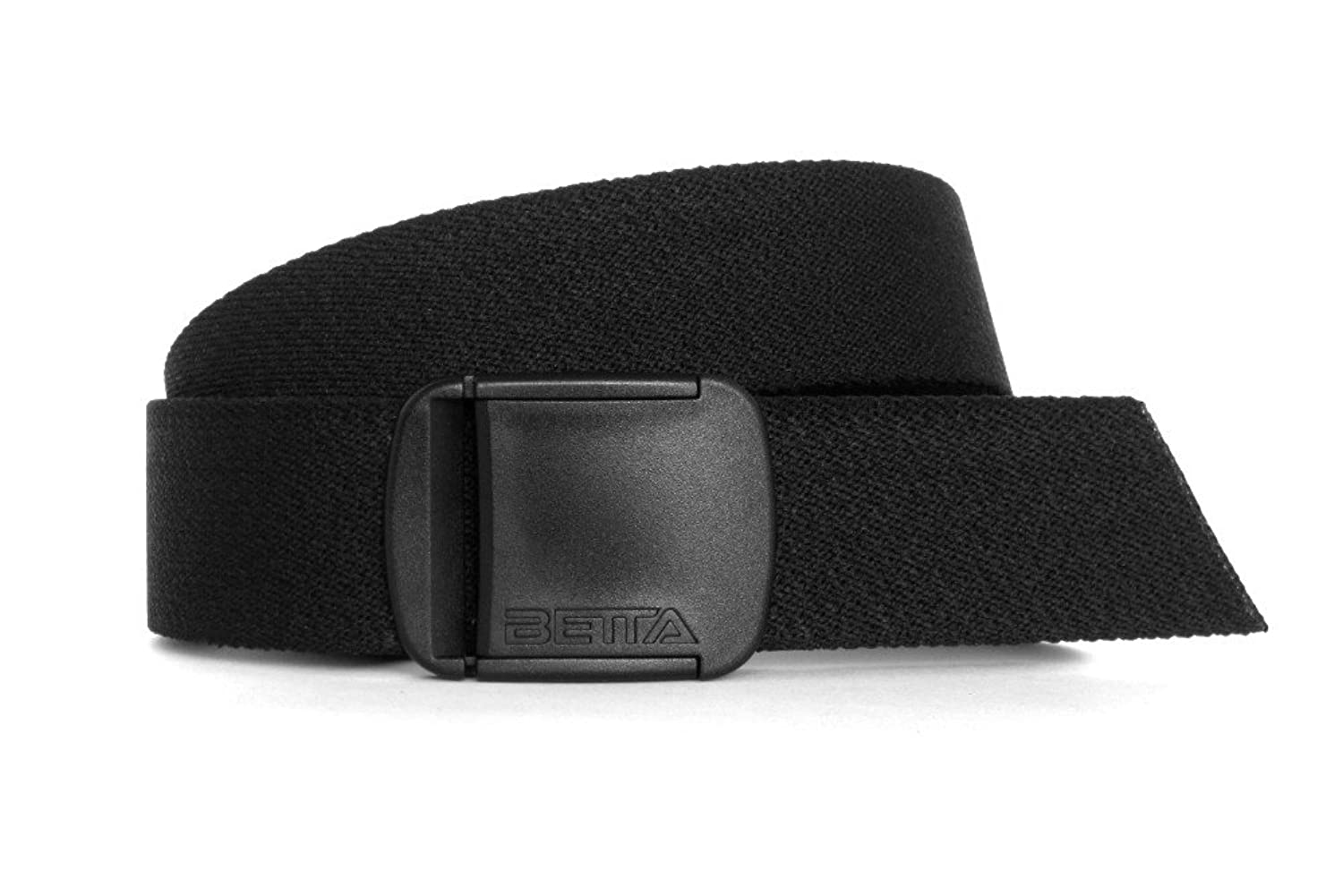 CTM® Men's Elastic Stretch Belt with Gold Buckle and Matching Tabs.