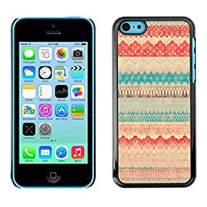 PC/Aluminum Funda Carcasa protectora para Apple Iphone 5C Polka Dot Pattern Sweater Teal / JUSTGO PHONE PROTECTOR