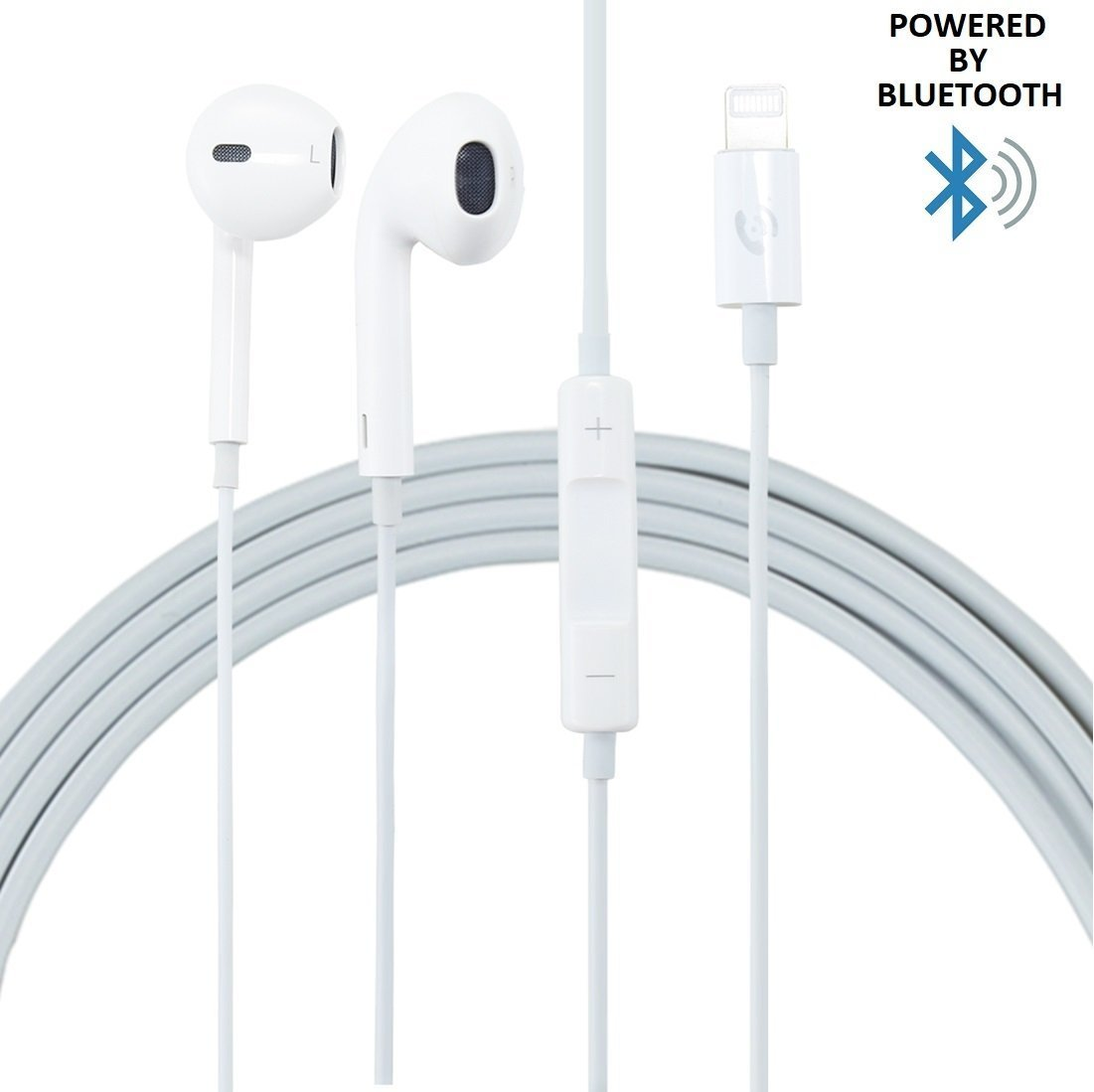 Headphones for iPhone 7, Samxu Lightning iphone earbuds with Microphone Earbuds Stereo Headphones and Noise Isolating headset Made for iPhone 7/7 Plus iPhone8/8Plus iPhone X
