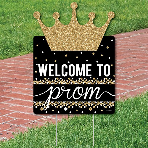Big Dot of Happiness Prom - Party Decorations - Prom Night Welcome Yard Sign