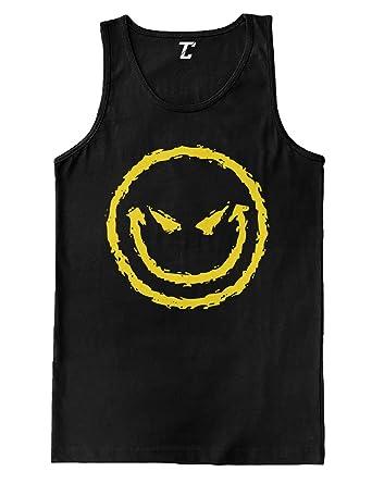 8a094d908480b5 Amazon.com  Evil Smiley - Funny Badass Emoticon Men s Tank Top  Clothing