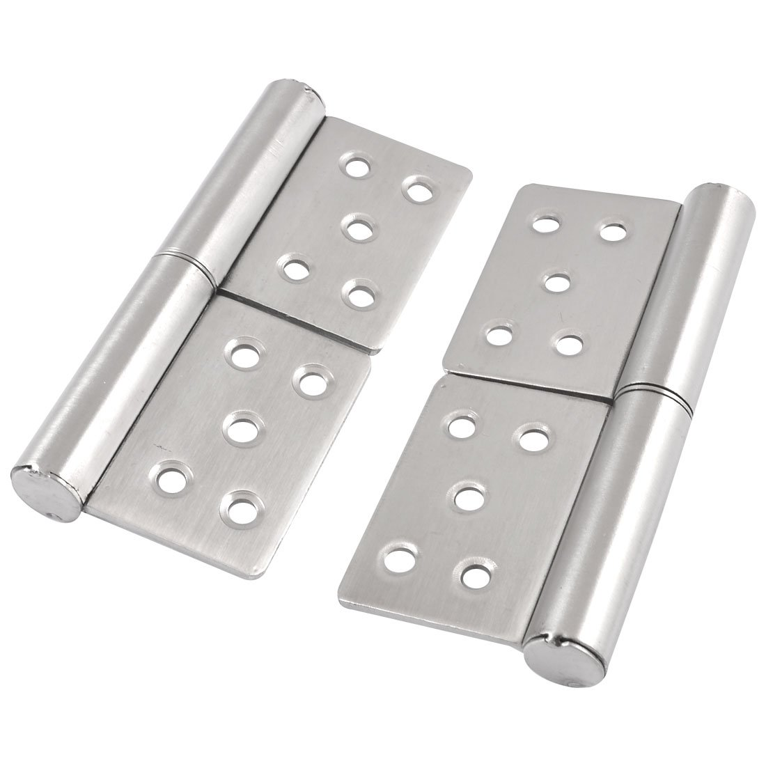 5'' Silver Tone Metal 360 Degree Rotating Cabinet Door Flag Hinge 2 Pieces by uxcell