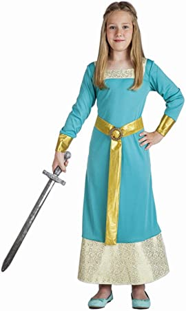 Disfraz de Princesa Medieval azul para niña: Amazon.es: Juguetes y ...