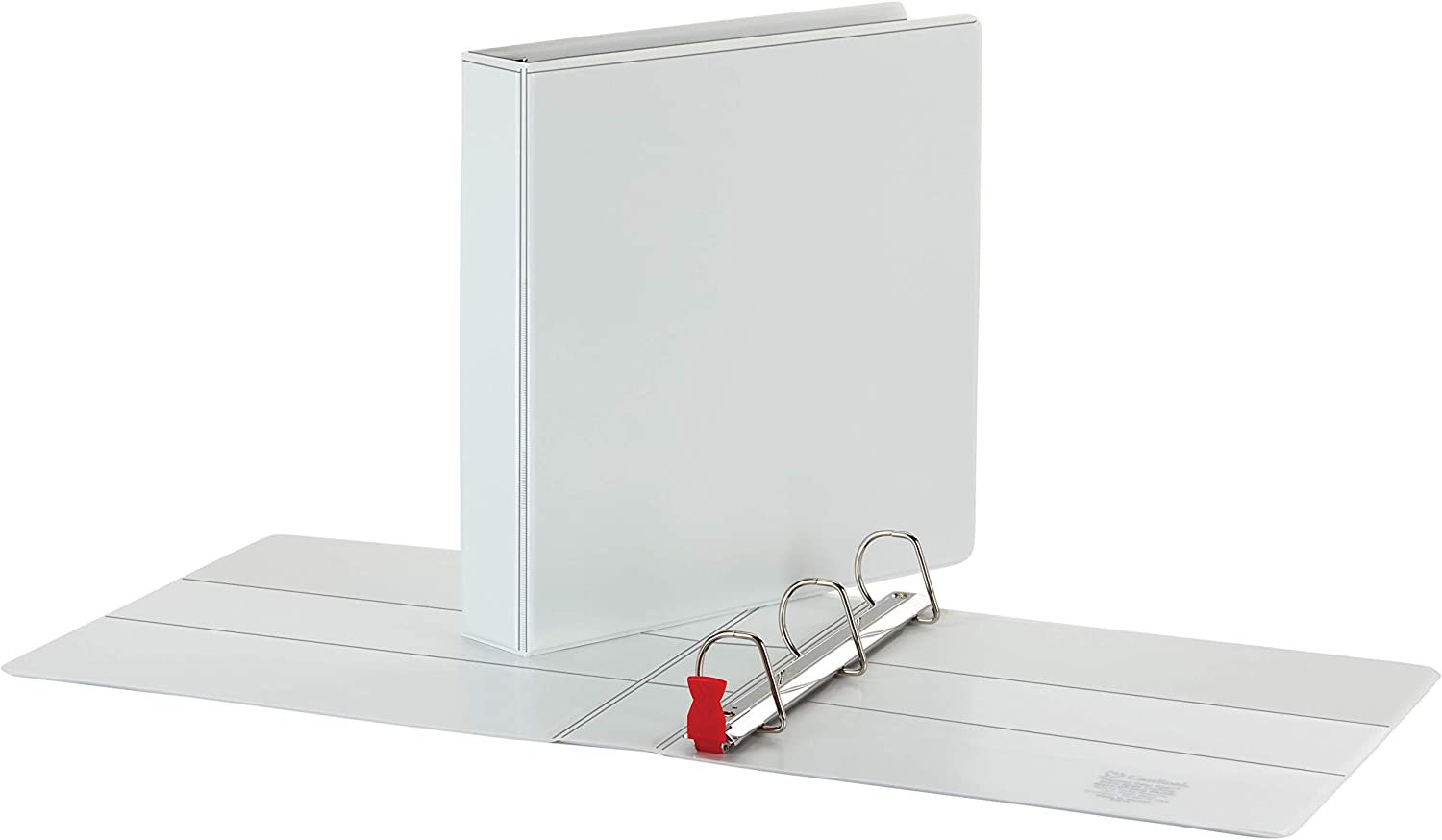ClearVue Cover ONE-Touch Easy Open Locking Slant-D Rings 2 White Cardinal Premier Extra-Wide 3-Ring Binder 13320 565-Sheet Capacity