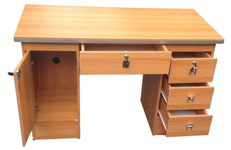 Computer Desk in Beech Oak Desk 617//1985 Black White Walnut /& Oak With 3 Locks For Home Office