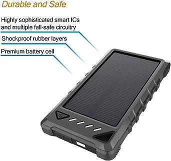 Amazon.com: Cargador solar BEARTWO de 10000 mAh, cargador de ...