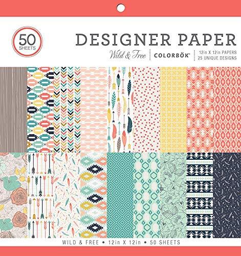 ColorBok 73480A Designer Paper Pad Wild & Free, 12″ x 12″