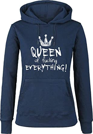 Queen Of Fucking Everything Sudadera con Capucha Azul Oscuro: Amazon.es: Ropa y accesorios