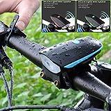 Cacys Store - Bicycle LED Tail Light Safety Warning Light USB CREE XPG LED Flashlight Bike Bell Speaker Cycling Headlight Tail Lamp 3modes ( 1 Pcs, Random Colors )