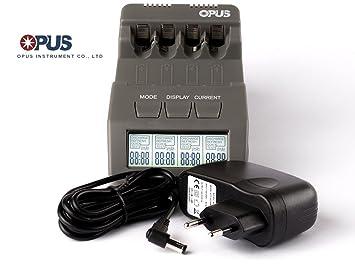 Opus BT-C700 Inteligente cargador para pilas AA/AAA, NiMH, baterías de NiCd