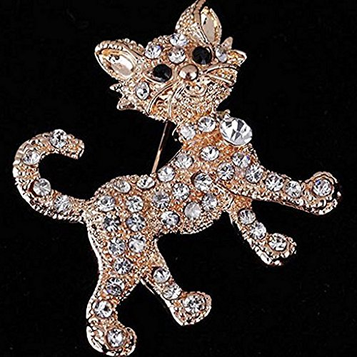YOIOY Three Dimensional Cat Style Brooch Pins Plated Jewelry Accessory Cat Plated Brooch