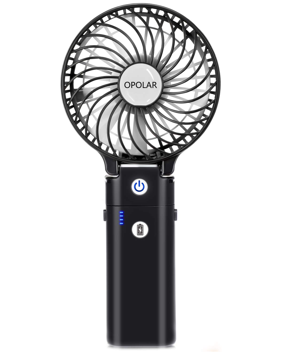 OPOLAR Handheld Fan with 5200mAh Power Bank, Battery Operated Fan with 5-20 Hours Working Time,3 Setting, Strong Wind,Foldable Design, for Travel, Camping and Outdoor Activities 4335396805