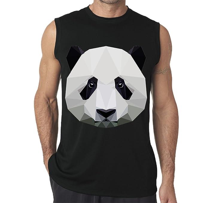 a9f34a667 Amazon.com: Imtailang Customized Men's Panda Printed Sleeveless Muscle T- Shirt: Clothing