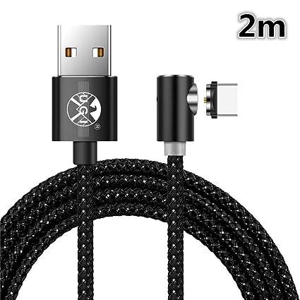 Forma de L Girar Cable de Carga USB magnético Trenzado ...