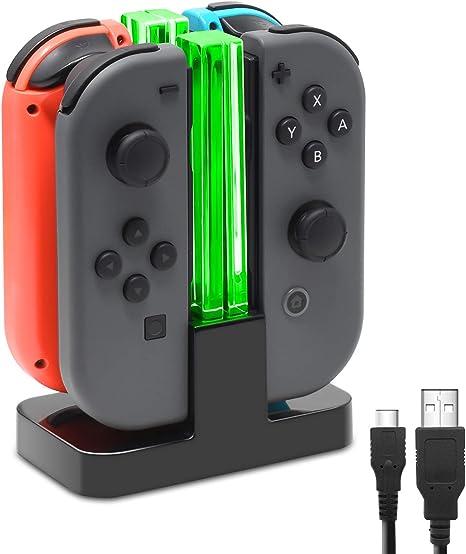 FastSnail Joy-Con Base de carga compatible con Nintendo Switch con ...
