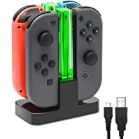 FastSnail Charging Dock Compatible with Switch Joy-Con with Lamppost LED Indication, Charger Stand Station Compatible…