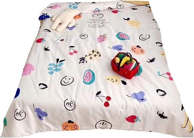 Mantas frescas de primavera y verano para niños, Edredón fresco de algodón de dibujos animados lindo de verano, Comodidad transpirable y seguridad Los niños aman la manta de la toalla de Kindergarten: