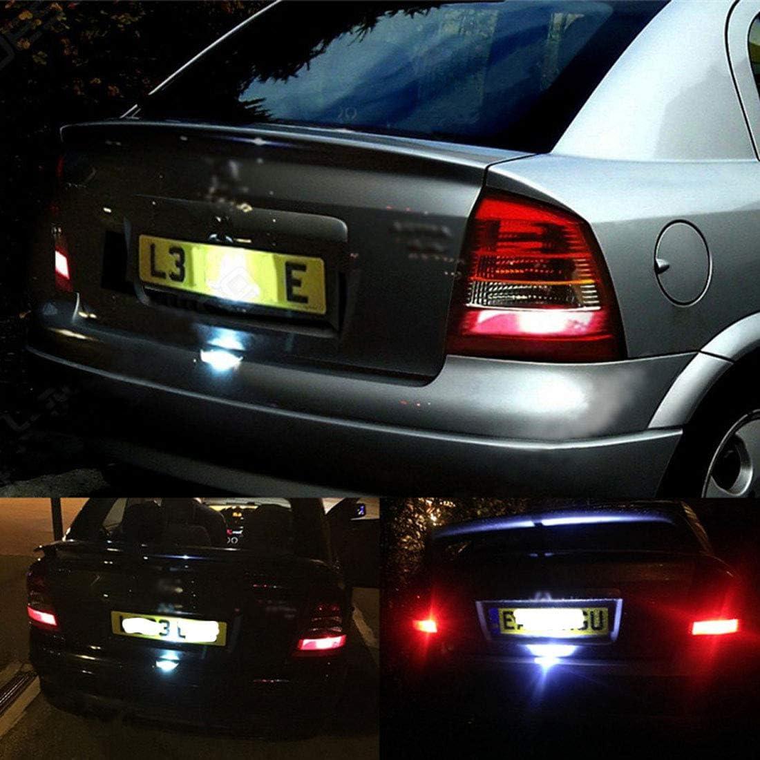 MuChangZi 1 St/ücke 6000 Karat LED Kennzeichenbeleuchtung Wei/ß F/ür O//pel Astra G MK4 1998-2004 Auto Auto Styling Auto Zubeh/ör