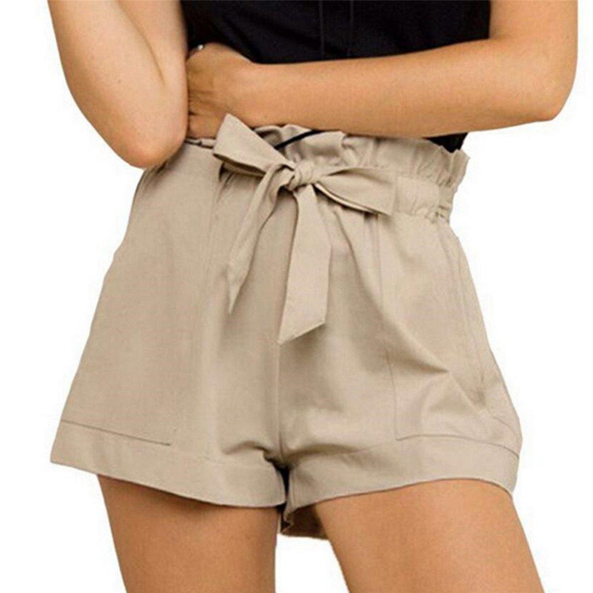 Aeneontrue Damen Shorts Blumen Bedruckte Bandage High Waist Hot Pants Sexy  Sommer Strand Kurzschluss Kurz Hosen Sporthosen Yoga Mini Shorts Lässig ... 908feca56a