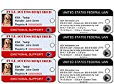 Emotional Support Dog ID Key Tags ( Set of 3) | Includes Registration to National Dog Registry