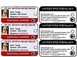 Emotional Support Dog ID Key Tags ( Set of 3) | Includes Registration to National Dog Registry