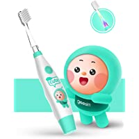 Baby&kids Electric Toothbrush Sonic Toothbrushes babies Battery Powered kids Toothbrushes with LED Light and Smart Timer Waterproof Replaceable Deep Clean For kids&baby-Baby Toothbrushes (Blue)