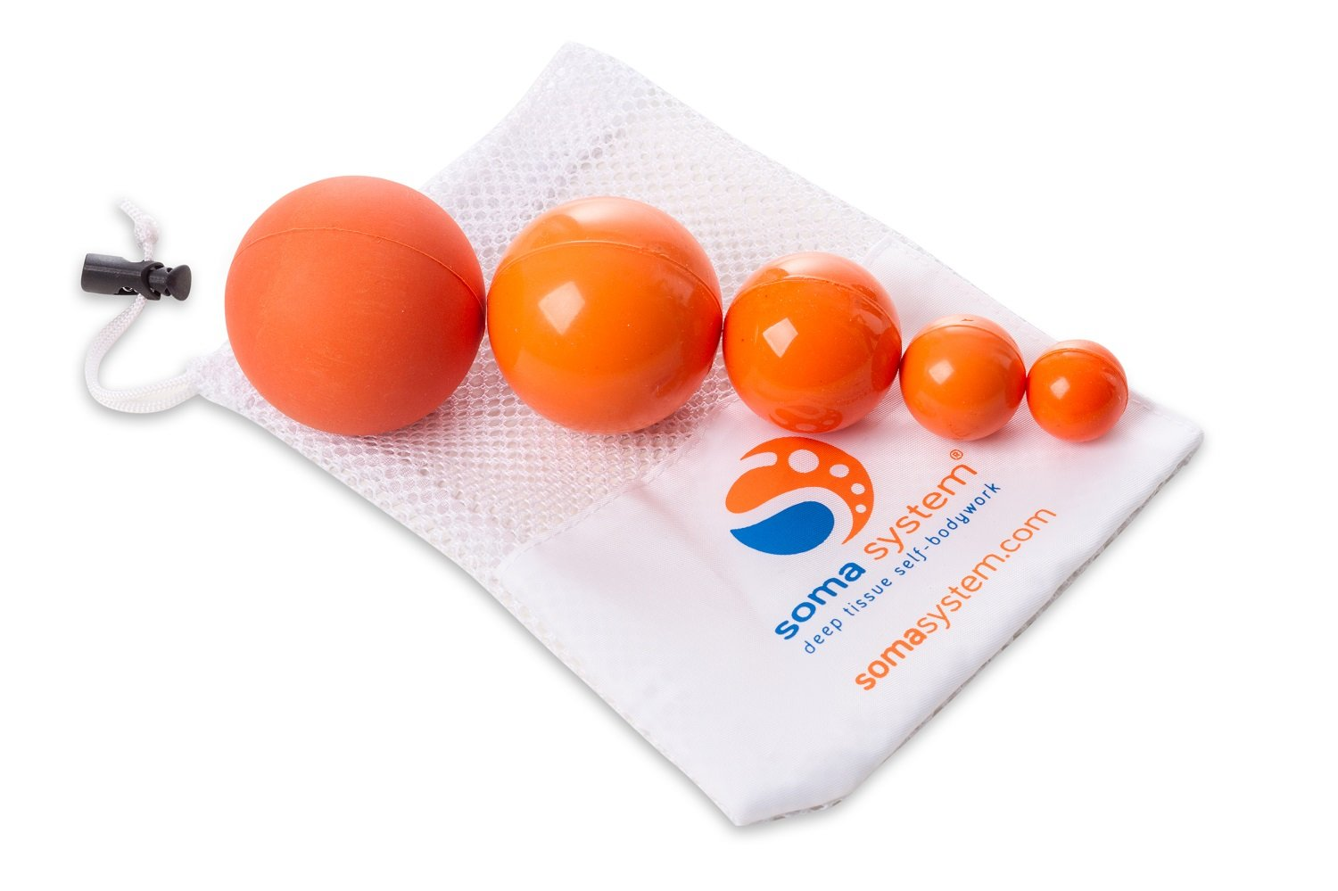 Soma System Massage Therapy Ball Set for Deep Tissue Self-Massage, Myofascial Release, and Trigger Point Therapy. Great for Melt Method, Yoga Tune Up, and Yamuna BodyRolling