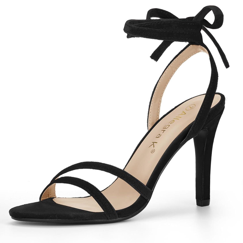 Allegra K Women's Stiletto Lace Up Sandals