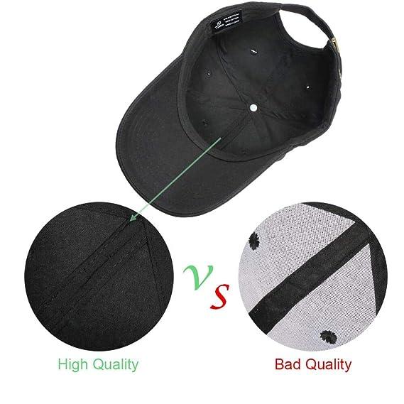 Tinya Baseball Cap Men Women: Solid Plain Black Adjustable Sports 100% Cotton Long Brim Strap Buckle Structured Fit for Youth Boys Ponytail Ladies Big ...