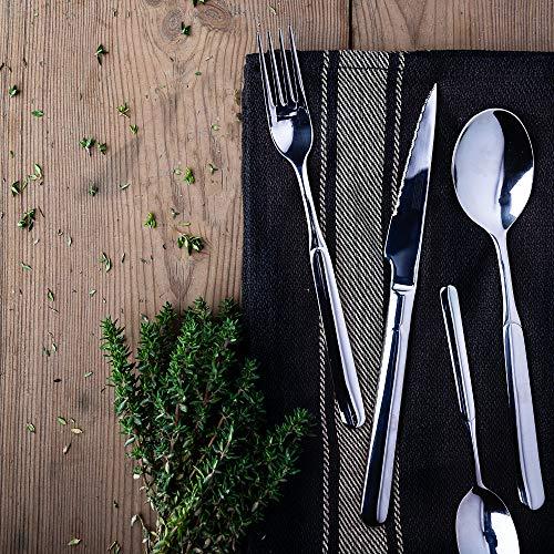 Monix Milán - Set de cubiertos 49 piezas, cubiertos de acero inox 18/10 con cuchillo chuletero y estuche Nogal: Amazon.es: Hogar