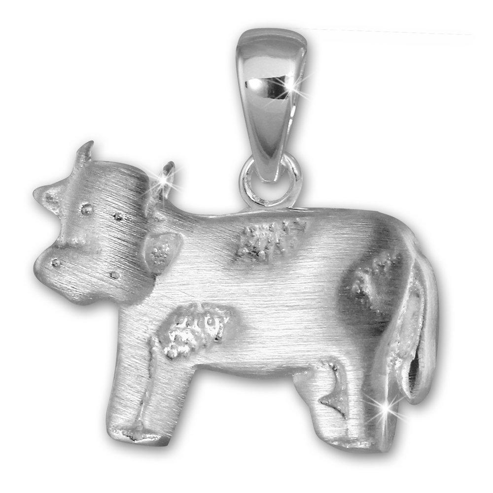 Teenie Weenie-pendentifs vache en argent sterling 925 SD SDH414J