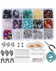 Tenwind Onregelmatige Edelsteen Kralen Kit,Natuurlijke Stone Healing Crystal Losse voor DIY Sieraden Ketting Armband Oorbel Maken Supplies
