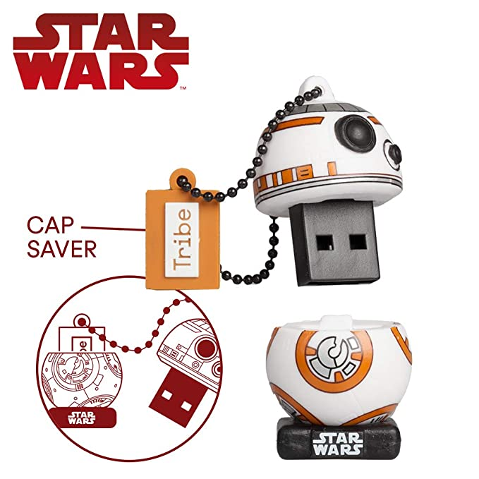 Llave USB 32 GB BB8 TLJ - Memoria Flash Drive 2.0 Original Star Wars, Tribe FD030708