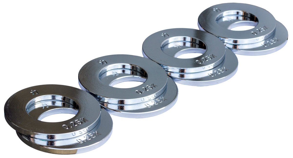 Strengthshop Hantelscheibenset - Stahl, 8 x 0.25 kg/Lochdurchmesser 50 mm