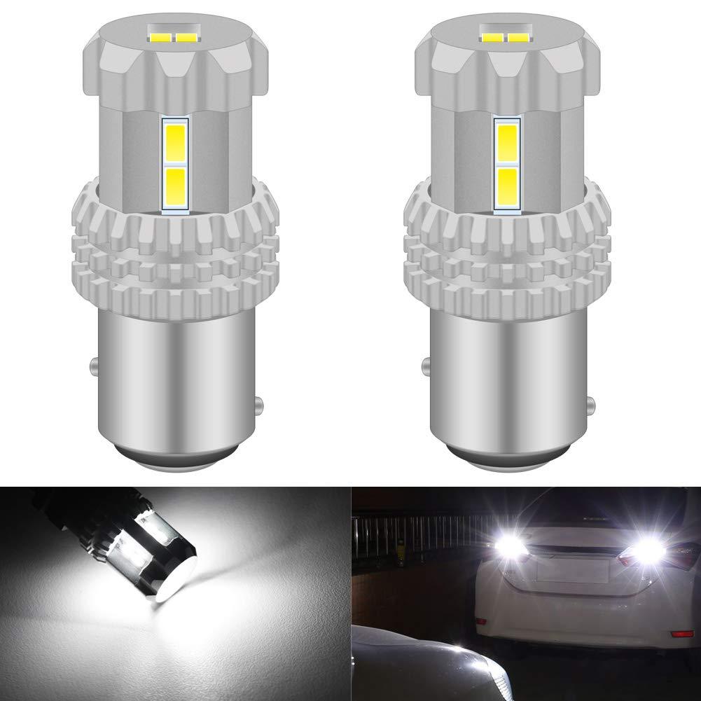 KaTur 744 7443CK Ampoule de Rechange 1080LM Orange 7444NA LED Haute Puissance 24W 12SMD 3020 Chipsets VR Camper SUV MPV Ampoules de Clignotant de Voiture Feu de recul de Frein arri/ère Lot de 2