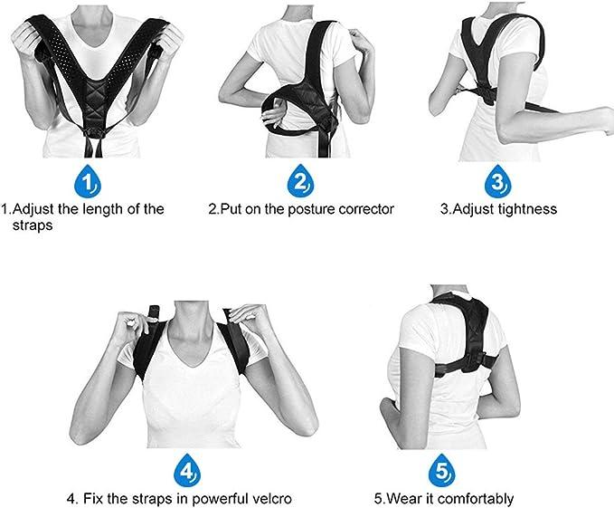 DEKINMAX Corrector de Postura Espalda Ajustable para Mejorar ...