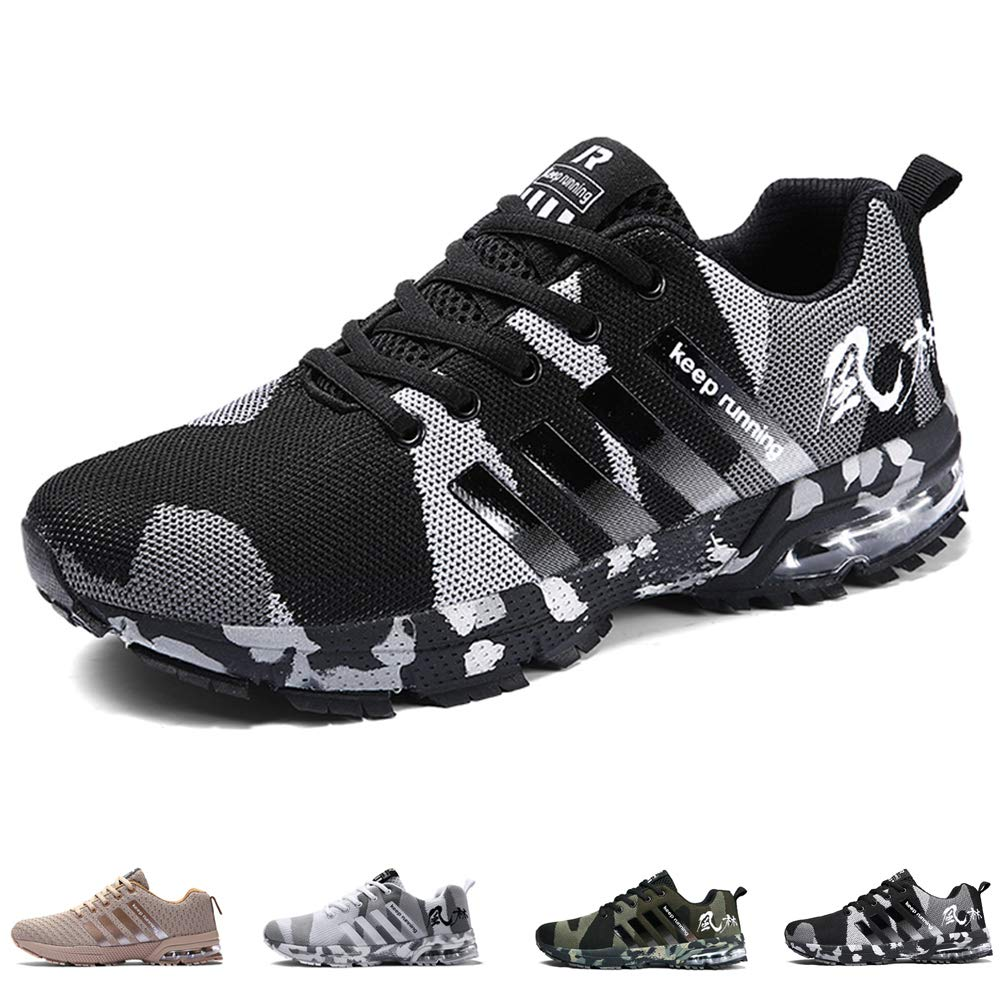 ebafb0a55e38 Mens Womens Running Shoes Casual Sports Shoes Air Cushion Running Trainers  Lace-up Sneakers Breathable Athletic Shoes  Amazon.ca  Shoes   Handbags
