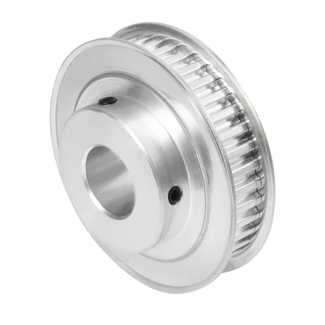 Uxcell Aluminum Xl 60 Teeth 10mm Bore Timing Belt Pulley Flange Pulleys Synchronous Wheel For
