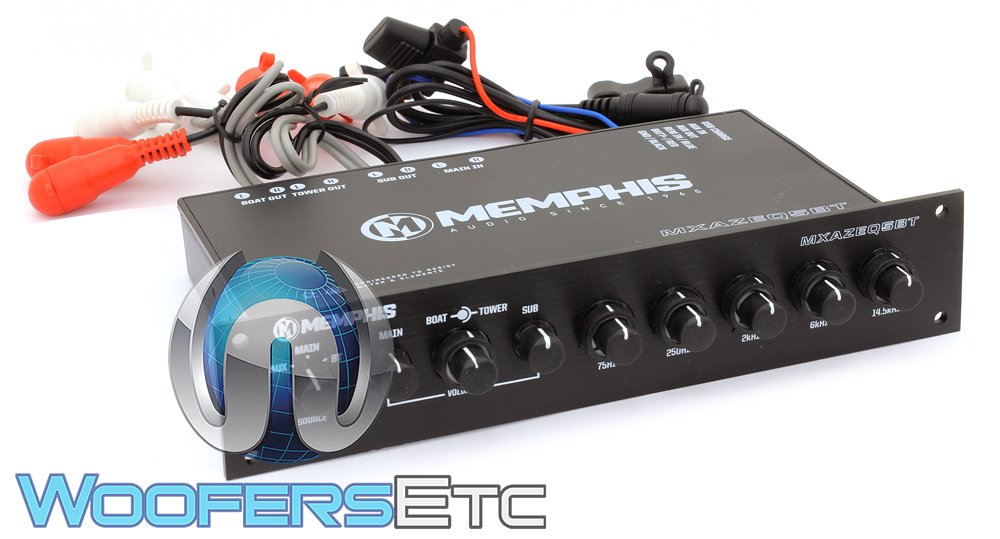 Memphis MXAZEQ5BT 5-Band Marine Equalizer with Bluetooth by Memphis (Image #1)