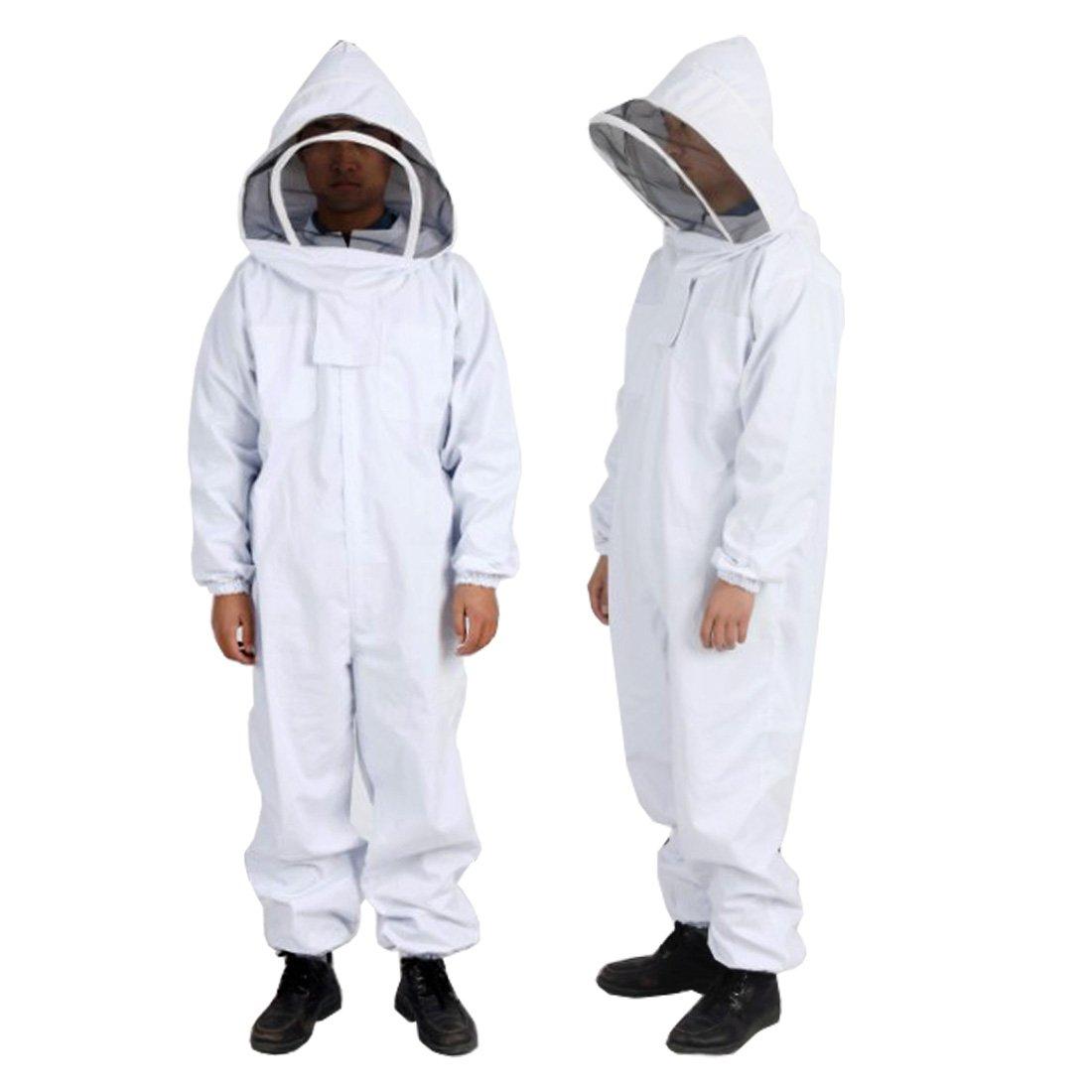Andux Suit Apicoltura Protezione Set Anti-Bee Apparecchiatura Un Pezzo Apicoltore Vestito con Velo Hood YFF-01
