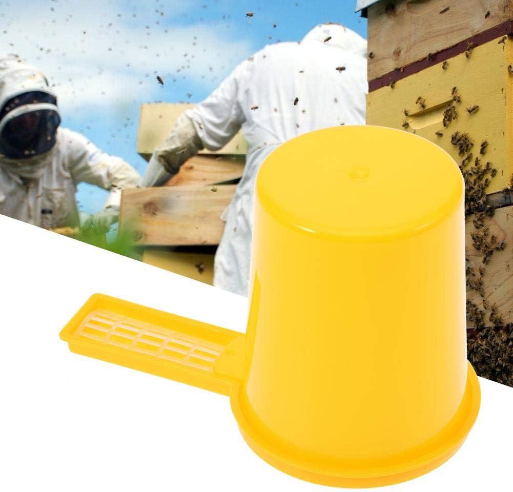 Mumusuki 2 UNIDS Apicultor Entrada de Miel Bebedero de Abeja Alimentador Botella Set Bowl Bee Keeping Tool Equipo de Apicultura
