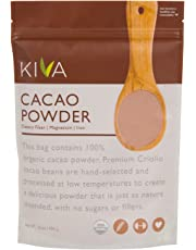 Kiva Organic Cacao Powder (Cocoa - Chocolate Powder) - Non-GMO, Raw, Vegan, 16-Ounce Pouch