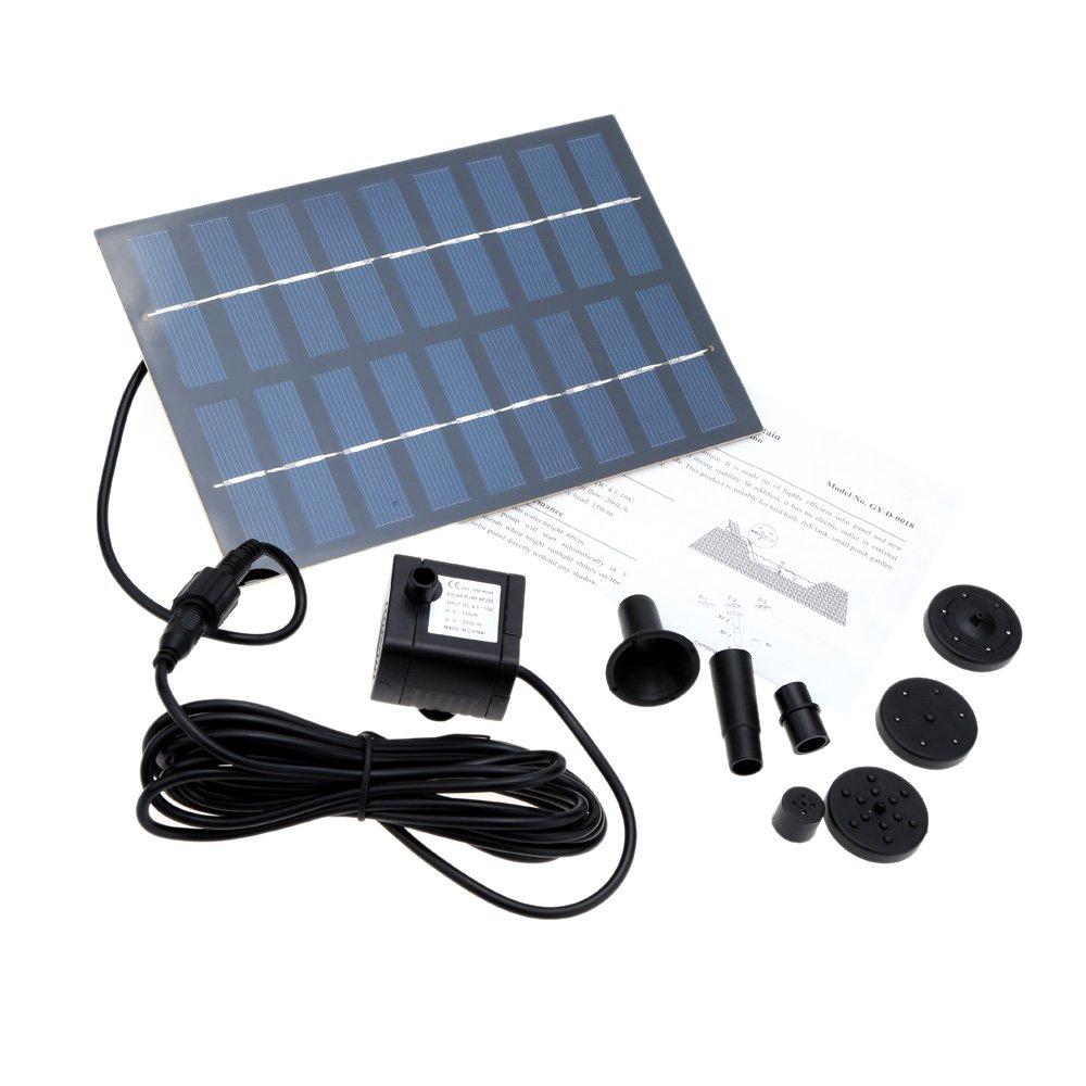 amazon com docooler 1 8w 9v new solar brushless pump for water