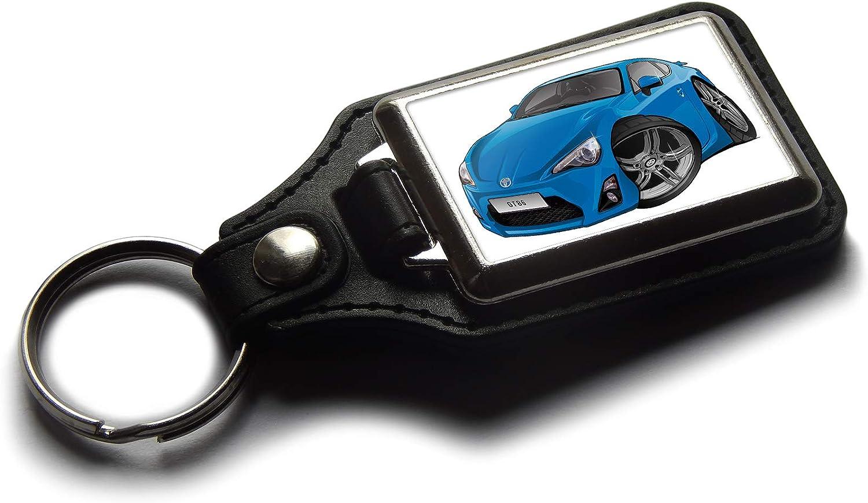 Portachiavi in Pelle e Cromato Motivo: Auto Sportiva Koolart GT86 Nero
